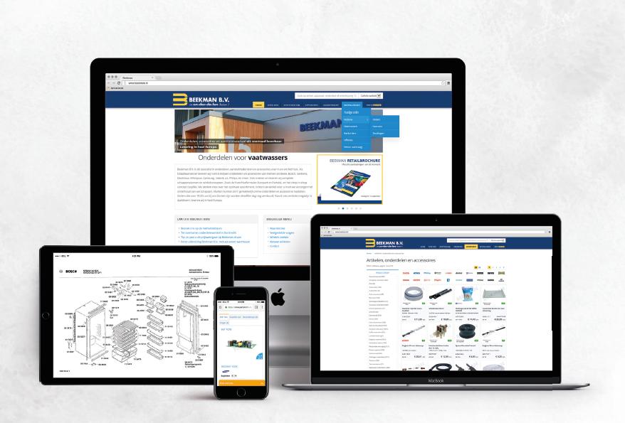 Beekman website en webshops met klantportal